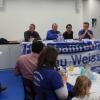 Steph informiert über die Arbeiten und Aktionen des Fan Dachverbands Supporters Hoffenheim